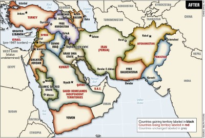 Redrawn Middle East Map