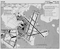 Logan Airport runway map
