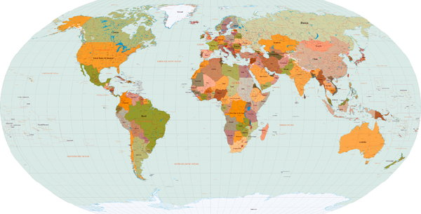 The map room a map of the world in eps vector format a map of the world in eps vector format gumiabroncs Choice Image