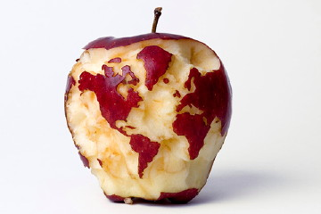 Apple Globe (2007) by Kevin Van Aelst