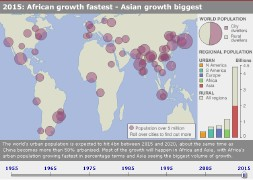 BBC News: Interactive Map: Urban Growth (screen capture)