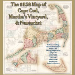 Book cover: The 1858 Map of Cape Cod, Martha's Vineyard and Nantucket