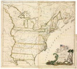 Buell map of North America 1784