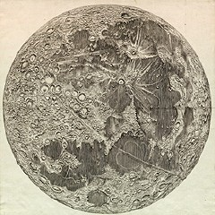 Cassini's map of the moon (1679)