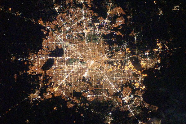 Cities at Night: Houston