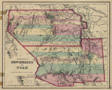 Colton's Territories of New Mexico and Utah (1855), thumbnail