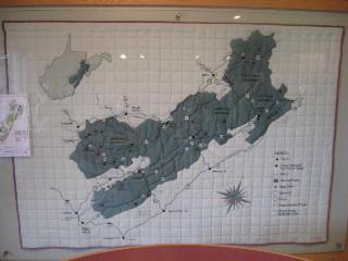 Monongahela National Forest map quilt