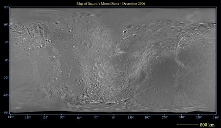 Dione map (December 2006)