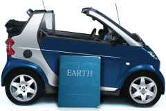 Earth Atlas with Mini Cooper