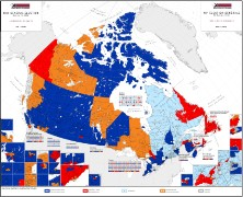 Elections Canada map, 2008 election (thumbnail)