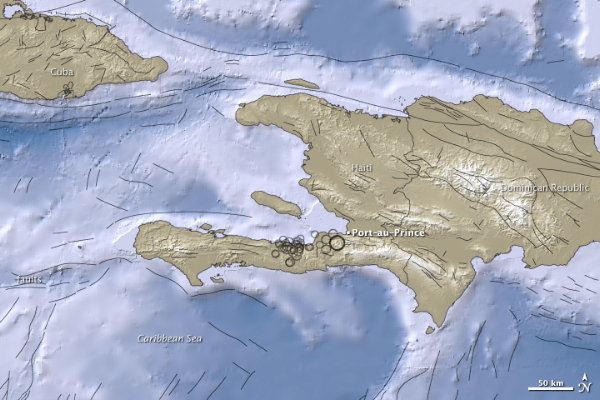 Earth Observatory: 7.0 Quake Near Port Au Prince