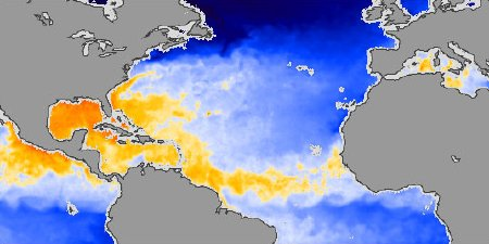 Hurricane-Ready Sea Surface Temperatures, Aug. 1, 2006
