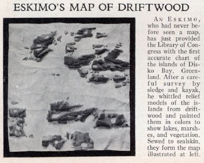 Eskimo's Map of Driftwood