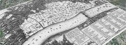 Google Earth layer of London, 1666