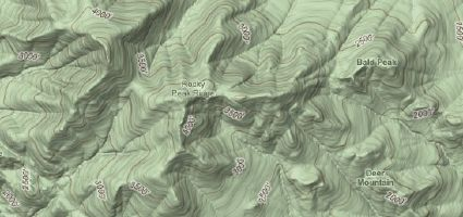 Google Maps contour lines, brazenly stolen from LatLong