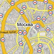 Google Maps Russia, Moscow screenshot