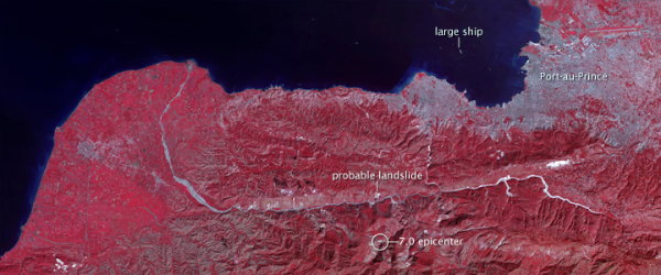 ASTER image of Haiti