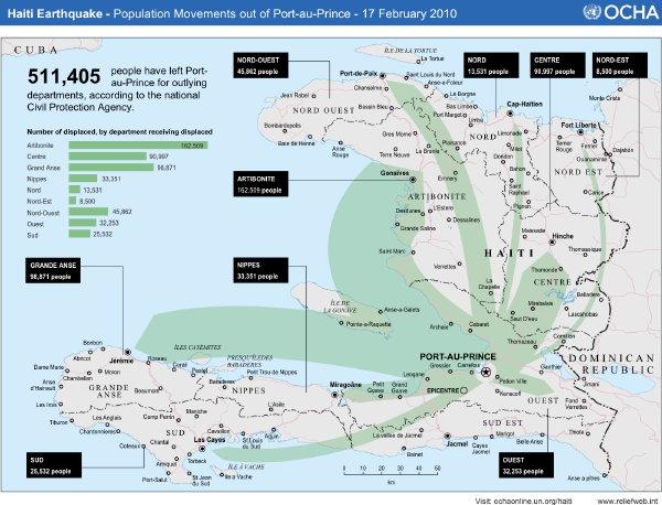 maps of haiti earthquake. Haiti Earthquake: Population