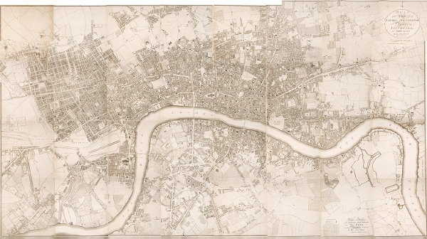 Richard Horwood's 1795 plan of London