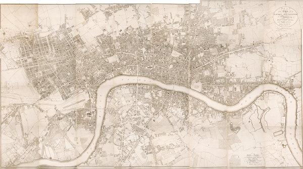 Richard Horwood's 1795 plan of London