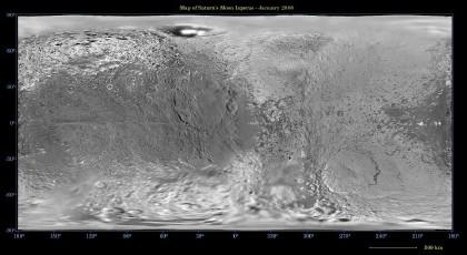Iapetus map