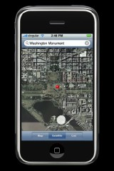 iPhone running Google Maps