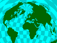 The map room java world maps projection page azimuthal distance projection from henry bottomleys java world map projections page gumiabroncs Image collections