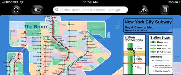KickMap app (screenshot)