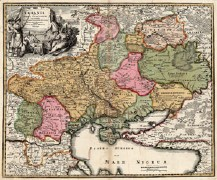 Ukrainia quae et Terra Cosaccorum, by cartographer Homann, ca. 1700