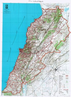 Map of Lebanon in Arabic