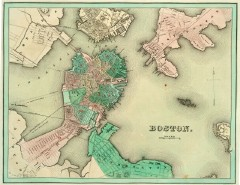 Map of Boston by Bradford (1838)