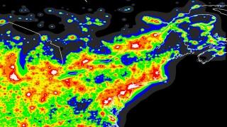 Light pollution in northeastern North America