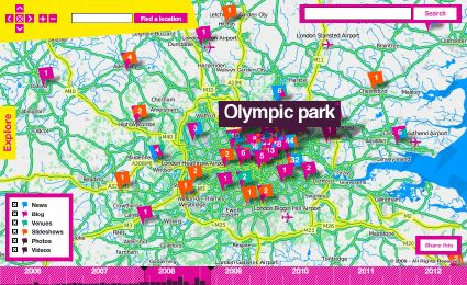 London 2012 map (screenshot)