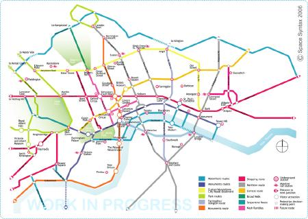 London pedestrian map