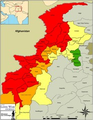 Long War Journal map of the Taliban's influence in Pakistan; thumbnail (Bill Raymond)