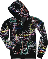 NYC subway map hoodie