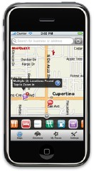 MapQuest on the iPhone