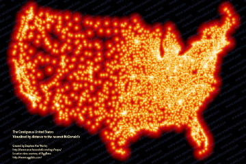 Map of McDonald's locations in the contiguous 48 U.S. states