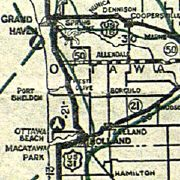 Highway map of Michigan, 1927 (thumbnail)