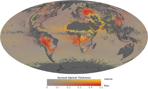 Aerosols map (NASA)