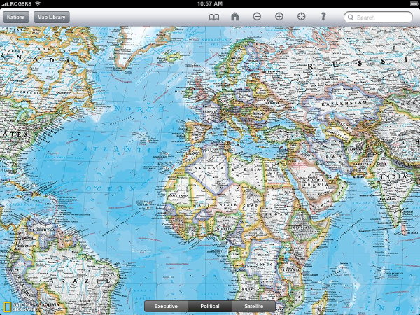 National Geographic World Atlas HD (screenshot)