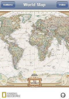 National Geographic World Atlas (screenshot)