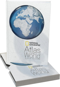 Book cover: National Geographic Atlas of the World, Ninth Edition