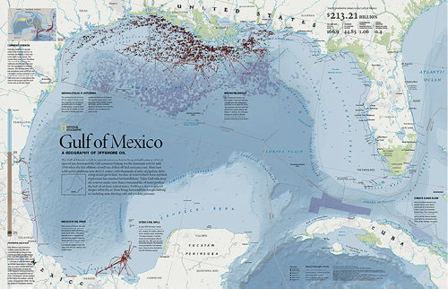 National Geographic map of oil production in the Gulf of Mexico