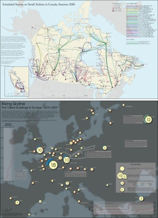 National Geographic Award in Mapping: first and second place maps, 2008