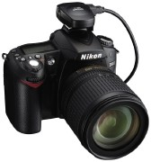 Nikon GP-1 atop a Nikon D90