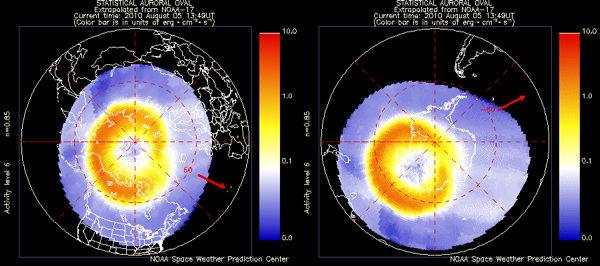 NOAA auroral activity maps