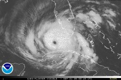 NOAA satellite photo of Hurricane Rita