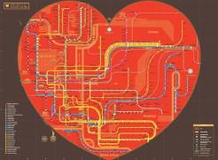 Heart-shaped NYC subway map (thumbnail)