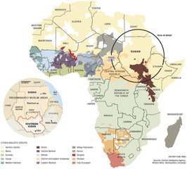 New York Times map of ethnic/linguistic groups in Africa